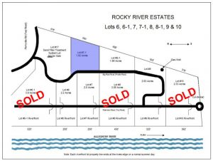 Rocky River Estates Allegheny River View Land Lot 7-1 Map